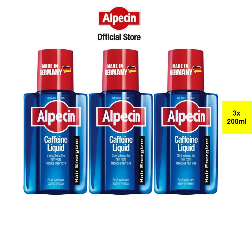 Alpecin Caffeine Liquid (200ml x 3 Pack)