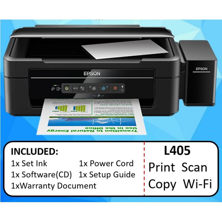 Epson L405 All In One Wireless Inkjet Printer Boleh Print Direct Telefon Shopee Malaysia