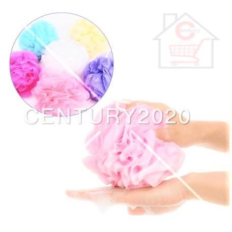 RIMEI Shower Ball Bath Ball Flower Bubble Ball Rub Back Bath Towel Foam Scrub Rubbing Back Toiletries