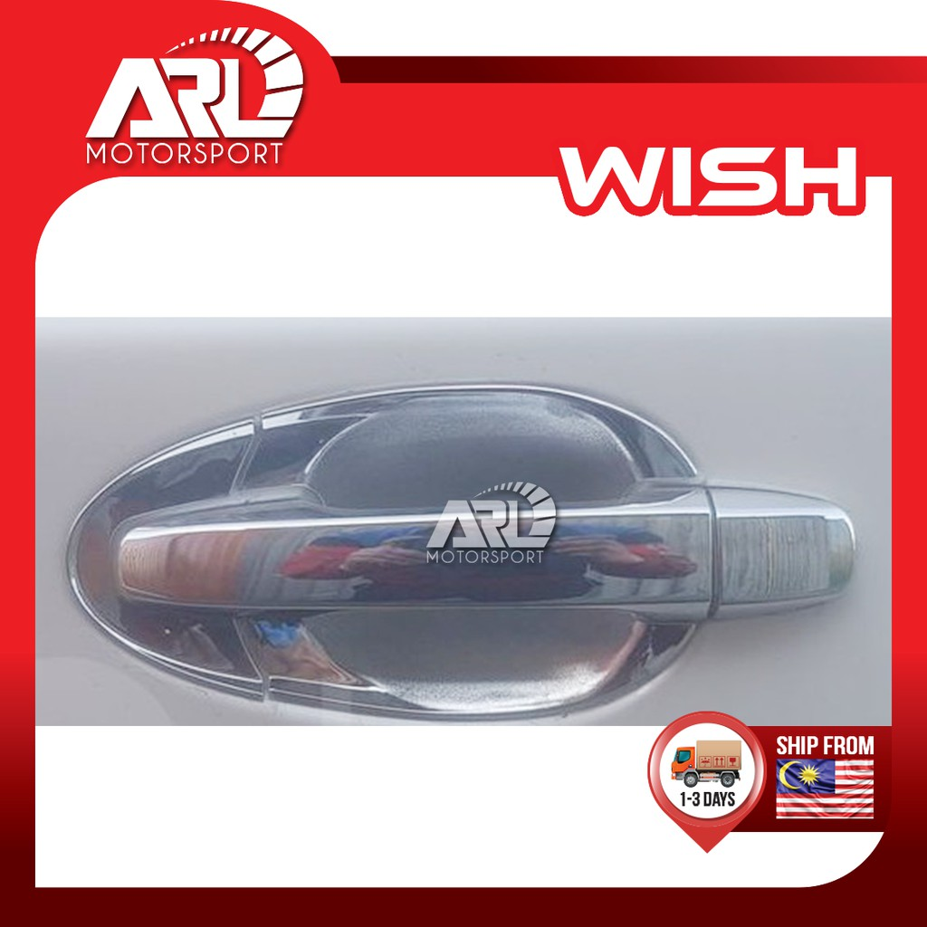 Toyota Wish AE20 Outer Handle Chrome Door Bowl Handle Cover Car Auto Acccessories ARL Motorsport