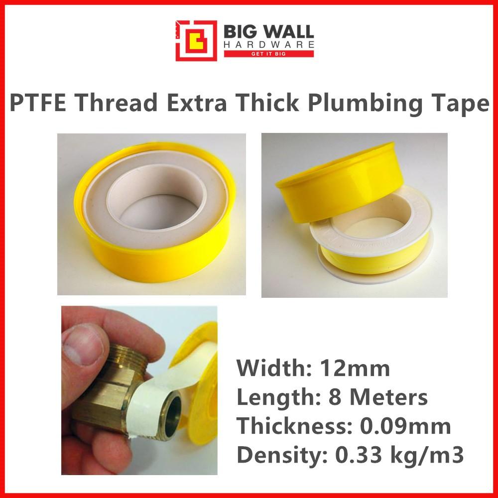 PTFE Thread Extra Thick Sealing Tape Yellow Plumbing Plumber Pipe Big Wall Hardware