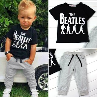 b58e55930 2pcs Toddler Kids Baby Boy T-shirt Tops+Long Pants Trousers Outfits  Clothing Set