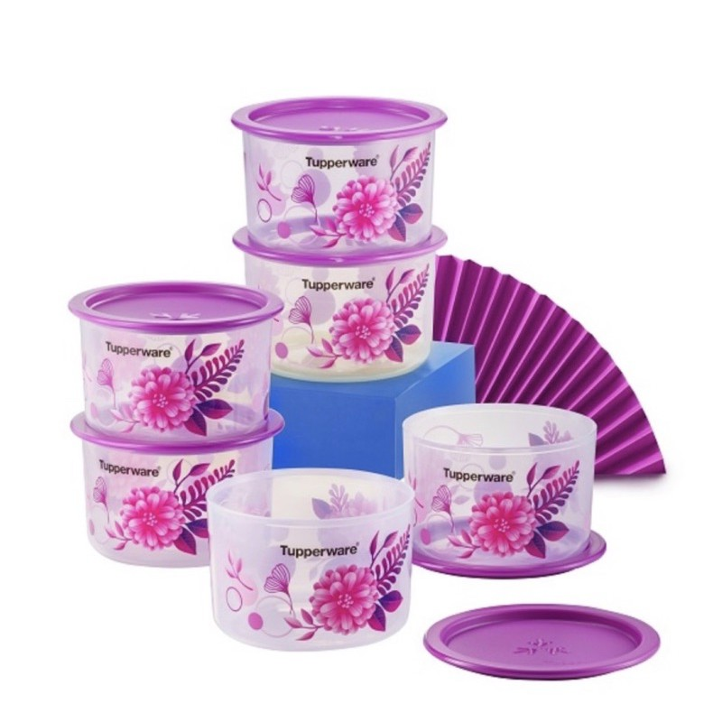 Tupperware Camellia One Touch OT Topper Junior 600ml Airtight Water Tight Food Container