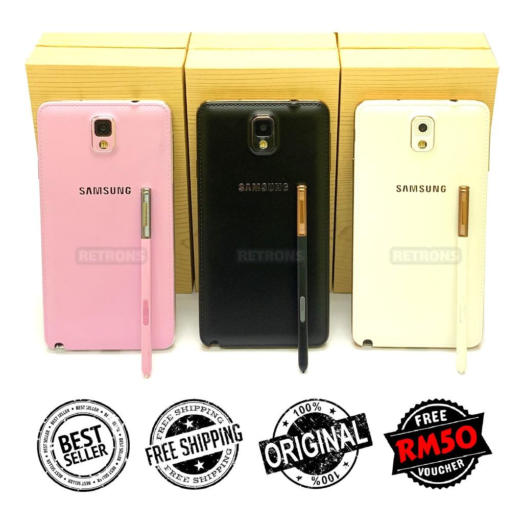 [CNY PROMO] Ori Samsung Note 3 N9000 3G | N9005 4G LTE [16GB | 32GB + 3GB RAM] Amoled HD LCD [Refurbished by Retrons]