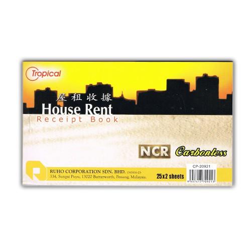 Tropical House Rental Receipt 2Ply NCR CP-20921 House Rent / Resit Sewa Rumah CP20921