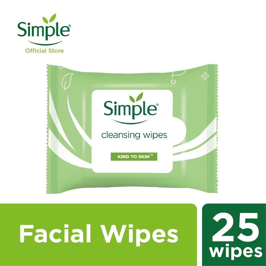 Simple Cleansing Facial Wipes (25's)