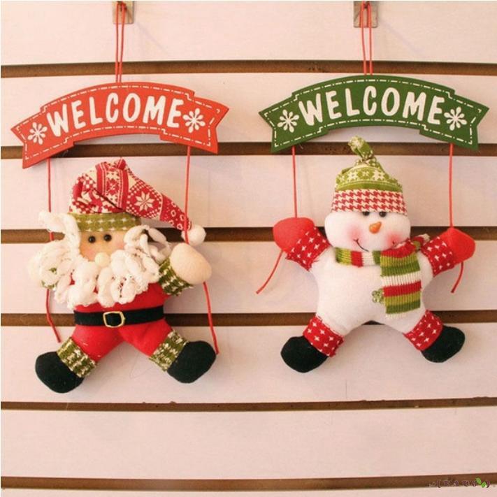 50xChristmas Gift Santa Claus Snowman Toy Stockings Hanging Socks 40*20cm