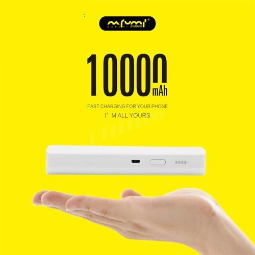 NAFUMI B18 10000MAH POWER BANK 2.1A OUTPUT DUAL USB PORT FAST CHARGING 4 GRID DISPLAY BATTERY INDICATOR BIG CAPACITY