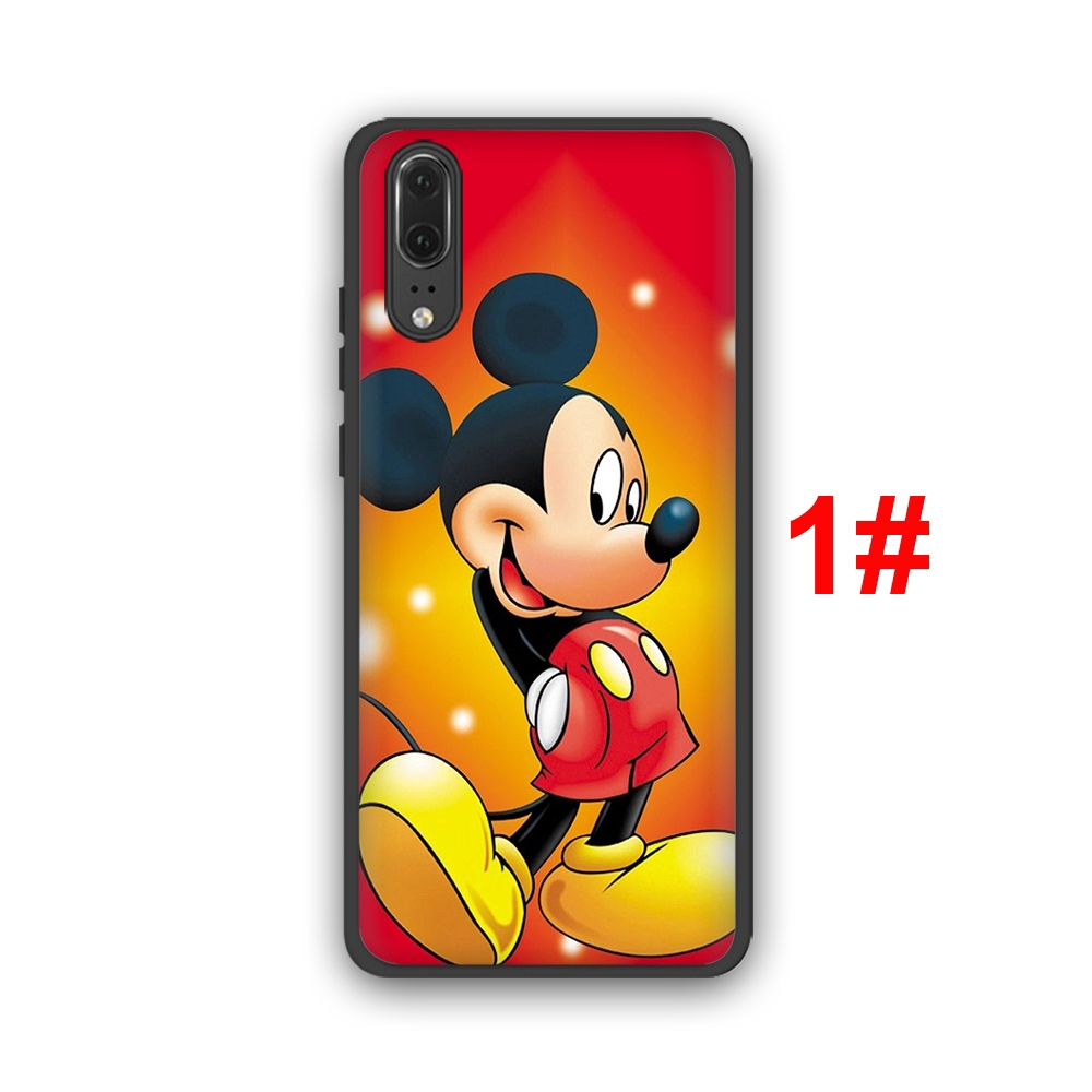 detailed look 11444 c1a71 Mickey Disney Huawei P10 P20 P30 Lite Pro Y6 Y7 Prime 2018 Y9 2019 Soft  Silicone TPU Case Cover