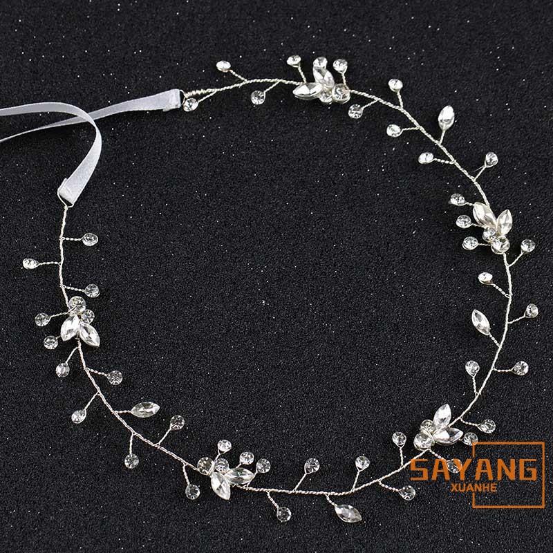 New Pearl Wedding Hair Vine Crystal Bridal Accessories Diamante Headbands