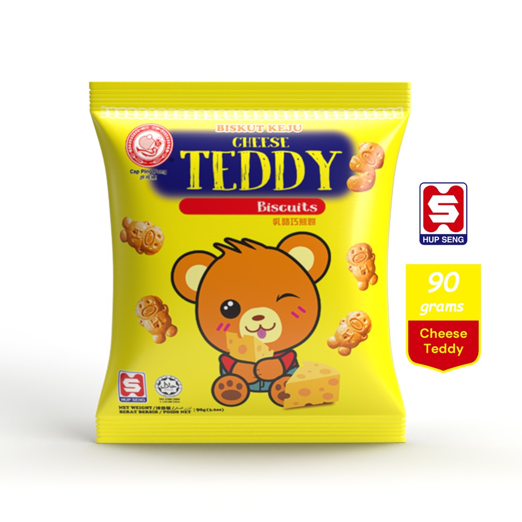 Hup Seng Ping Pong Cheese Teddy Biscuit (90g)
