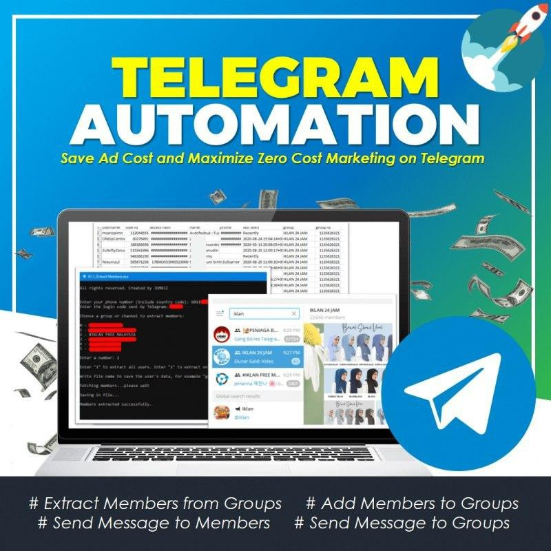 Telegram Bot Robot Telegram Auto Boost Group Chat Automation Telegram Software