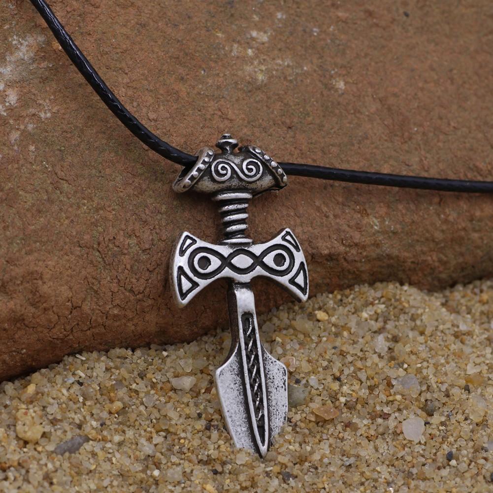 Amulet Of Talos antique silver viking sword pendant necklace amulet of talos handmade  pendant