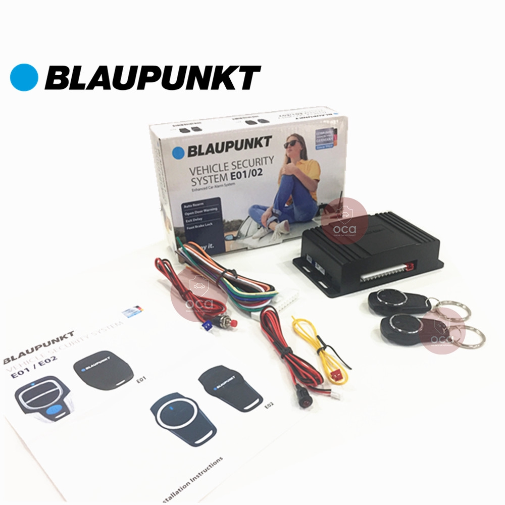 Blaupunkt Car Alarm System With Brake Lock Function Vehicle Security Alarm System E02 (13Pin)