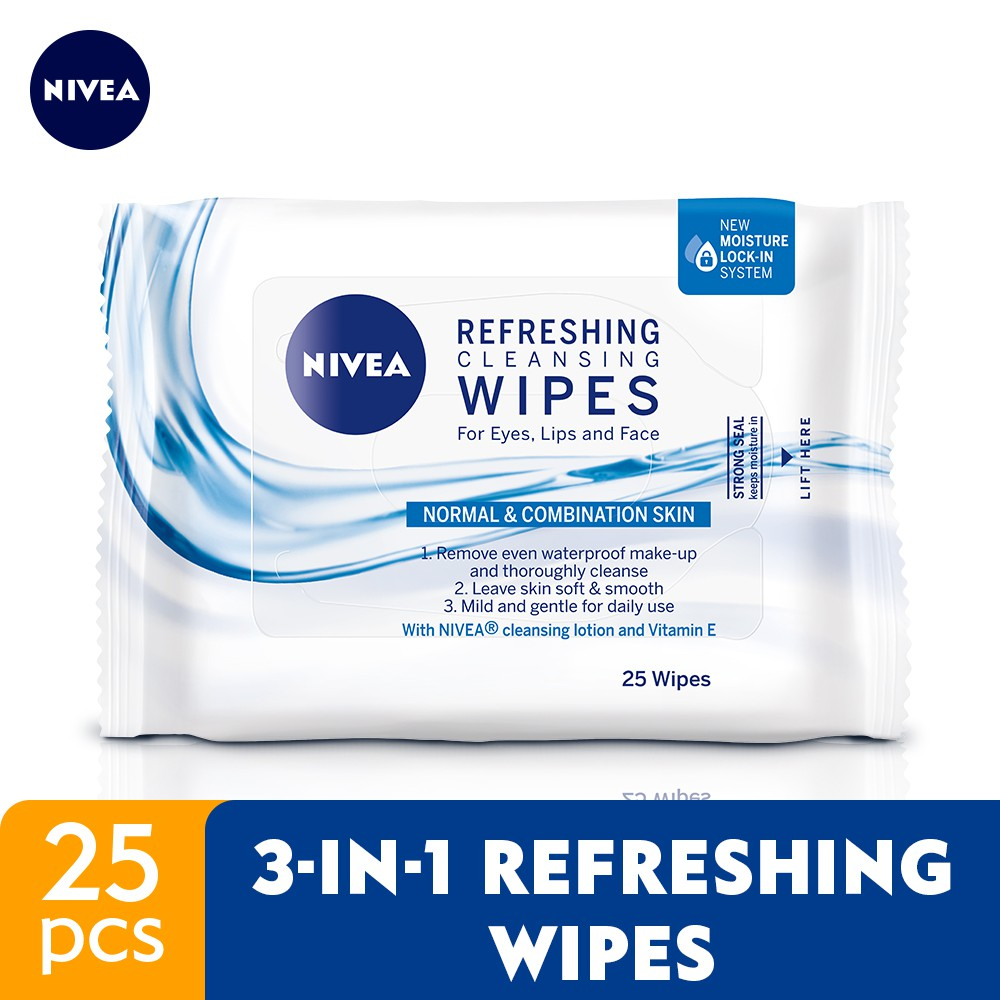 NIVEA Face Care Wipes - Refreshing Cleansing Limited Edition (25's)