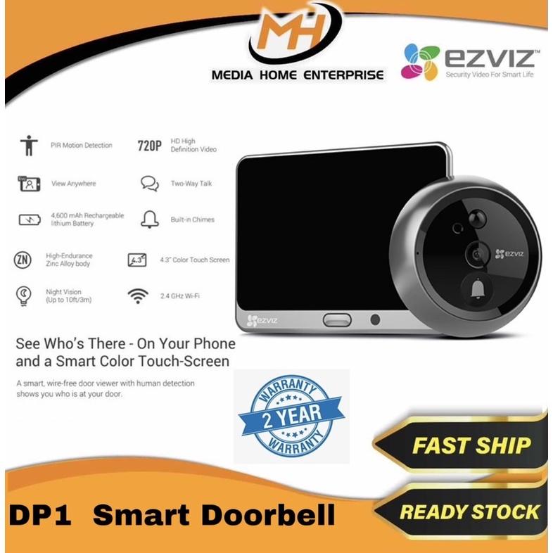 Ezviz Smart Home DP1 Smart Door Viewer - Motion Detection, Built-in Chimes, 720p, Rechargeable lithium Battery