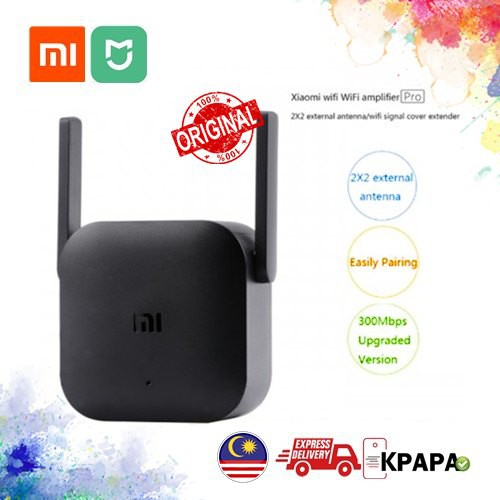 Xiaomi Pro 300M 2 4G WiFi Extender Repeater Pro Amplifier with 2 Antenna -  BLACK