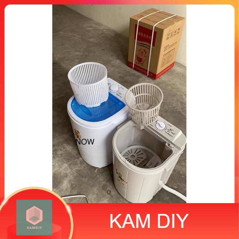 ready stock Semi-Automatic Portable  Mini Dehydration Washing Machine Single Barrel