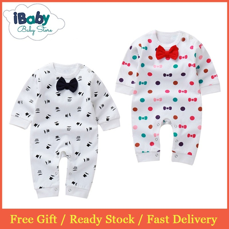 09d6847238fe9 Newborn Baby Rompers Kids Clothes Fashion Print Long Sleeve Baby Boys Girls