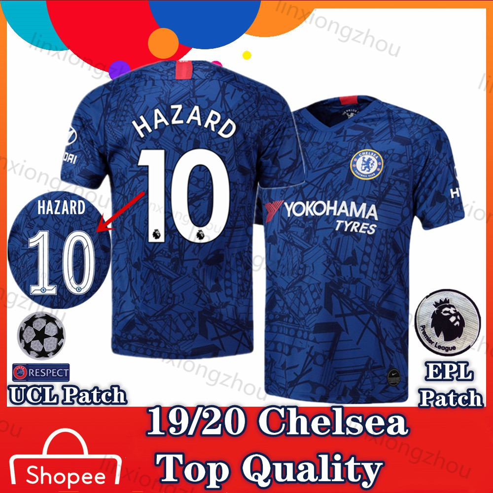 newest a68ed 12f2a Top Quality Chelsea Home 19/20 and 18/19 Soccer Jersey Football Jersey Jersi