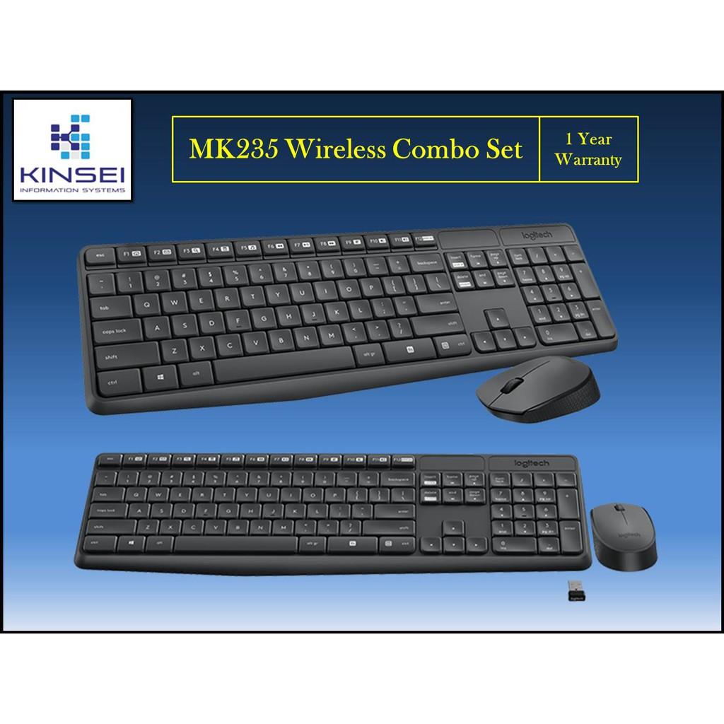 Logitech MK235 Keyboard & Mouse USB Wireless Combo Set