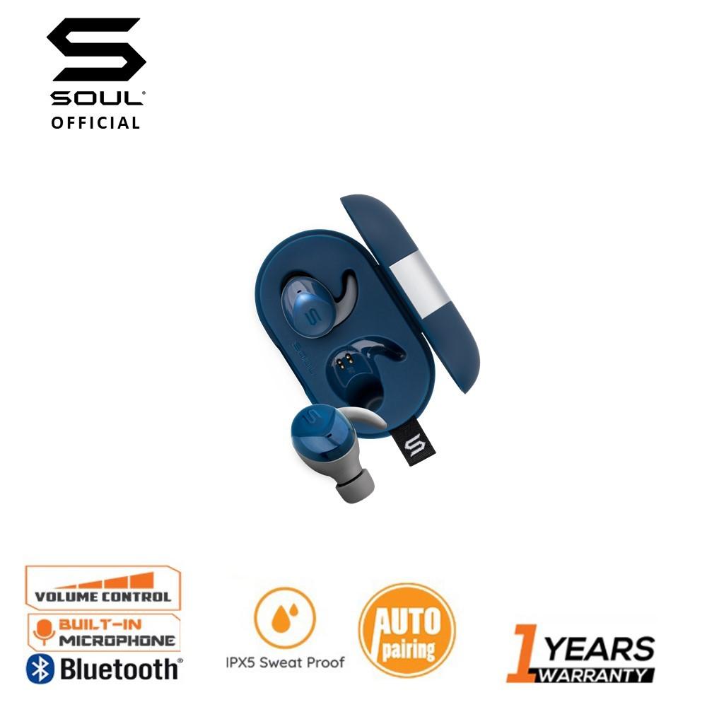 Soul Electronics ST-XS2 Wireless Earphones Ipx7 Waterproof Bluetooth 5.0 Earbuds Noise Cancelling