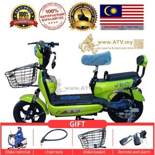 New Electric Bike 2seat 2year Warranty Machine Shopee Malaysia