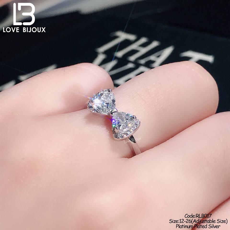 CSR001 Platinum Plated Silver 925 Swarovski Dancing Diamond Ring ...