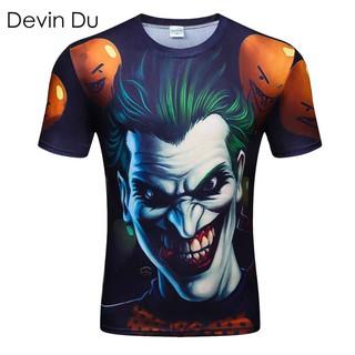 e729471ba ... Casual Shirts New Style Men T-shirt 3d Print Zombie Clown 3d Tshirts  Poker Anime Hip Hop. like: 0