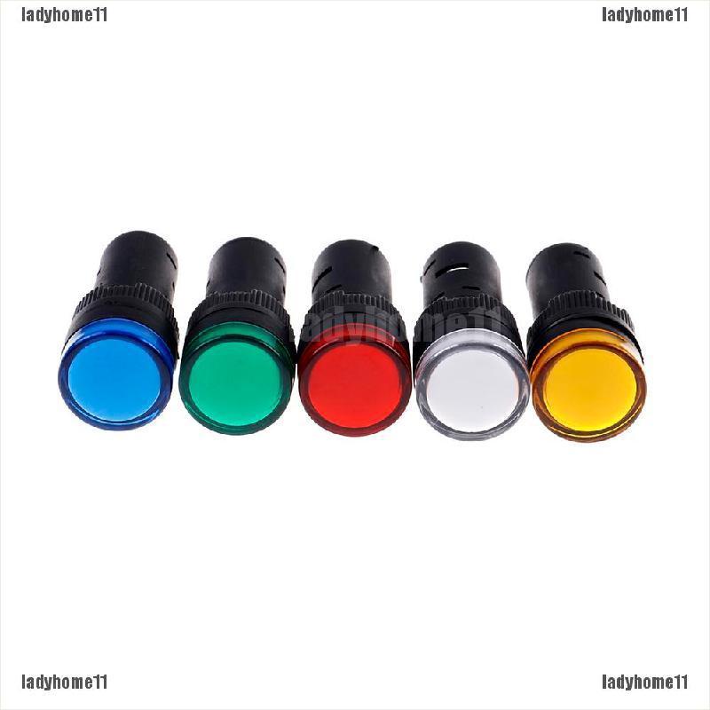 1Pc 16mm 12V LED pilot panel indicator signal warning light lamp AC//DC TK CRH