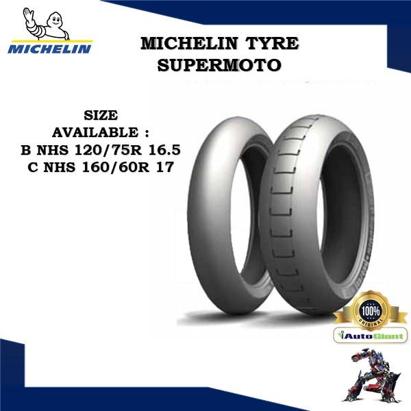 MICHELIN TAYAR POWER SUPERMOTO (100% ORIGINAL) 120/75R 16.5, 160/60R 17