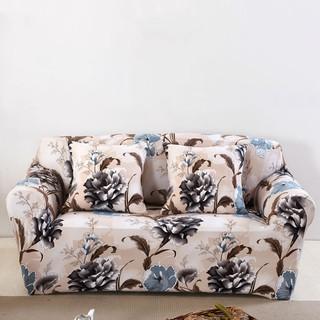 Universal stretch sofa cover flowers print corner sofa slipcover