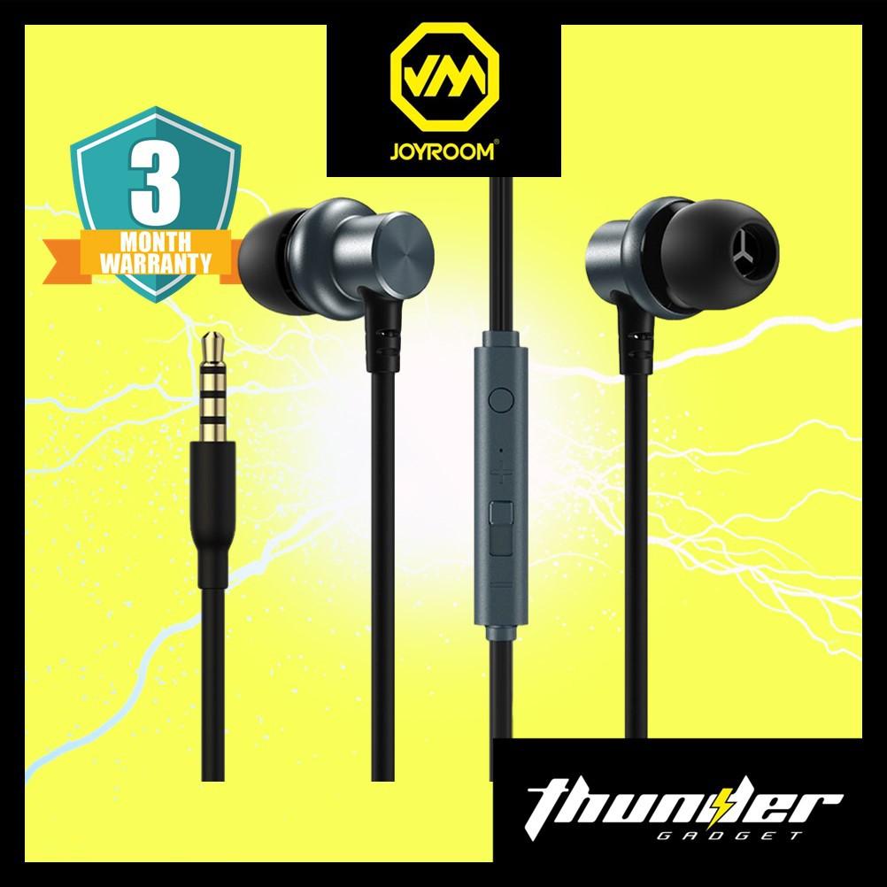 JOYROOM JR-EL115 Metal In-ear Wired Control Earphone Headset for Phone Tablet