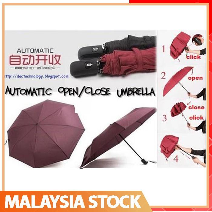 ea43c81f0f3f 🔥Auto Folding🔥Full Color Compact Automatic Umbrella Windproof Rainproof