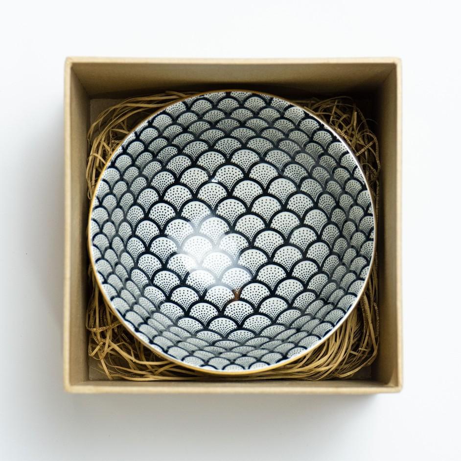 11.5cm Golden Circle Japanese Bowl Ceramic Bowl Mangkuk Jepun Porcelain Bowl Soup Bowl日式古典风陶瓷碗