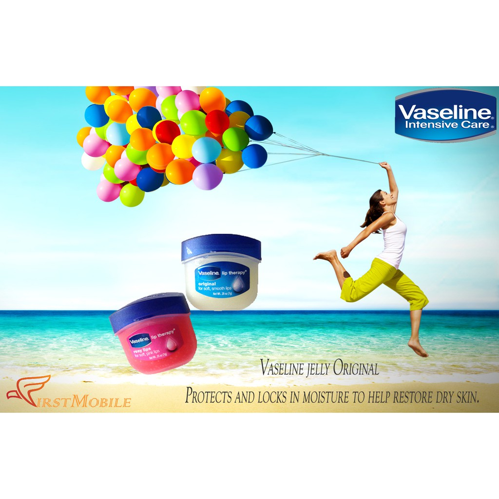 Ready Stock Vaseline Lip Therapy Rosy Lips 7g For Soft Pink Original Usa 100 Shopee Malaysia
