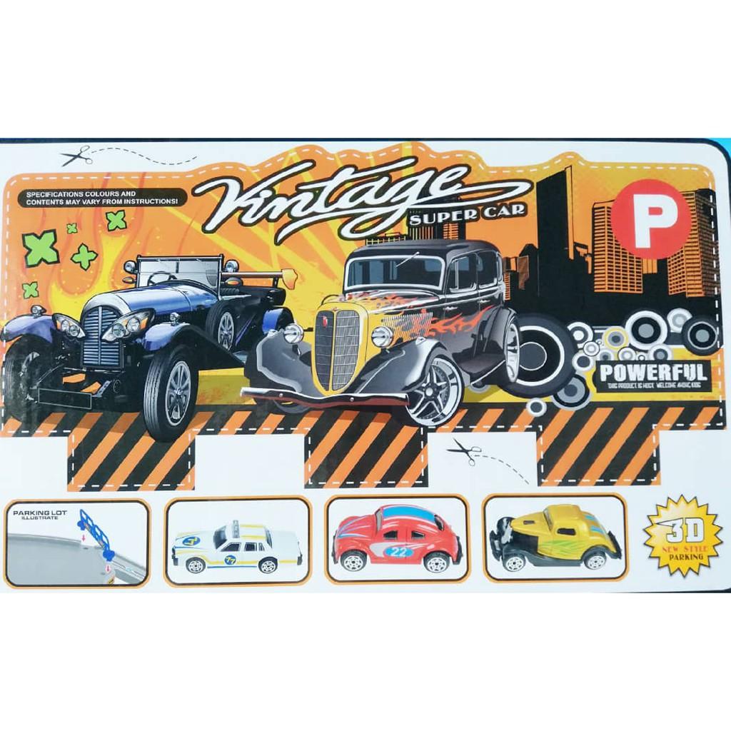 37pcs 3D Style City Parking Puzzle Toy Playset