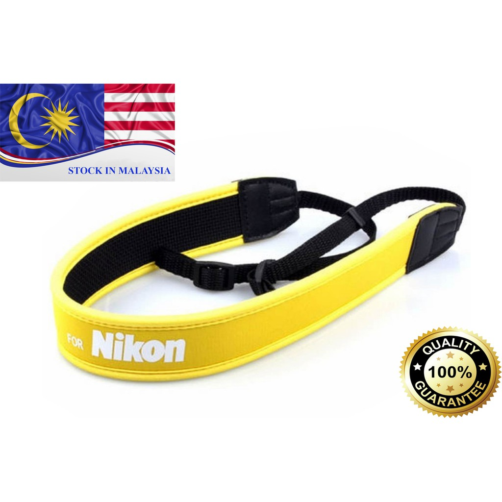 Yellow Neoprene Neck/Shoulder Strap For Nikon DSLR (Ready Stock In Malaysia)