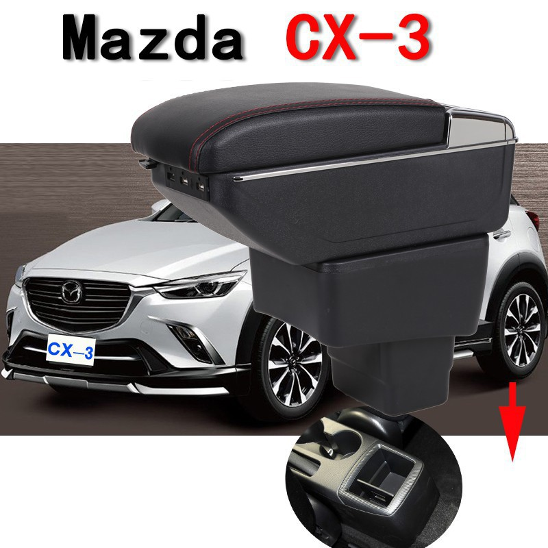 for MAZDA 2 CX3 CX-3 Adjustable Car Armrest box Leather central Content Box