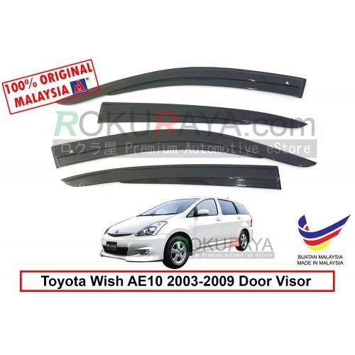 Toyota Wish AE10 (1st Gen) 2003-2009 AG Door Visor (AG Mugen Design)