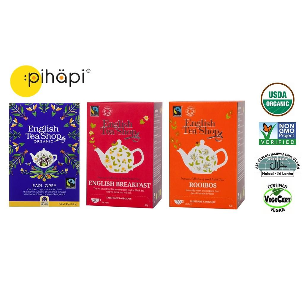 [HALAL & IMPORTED FROM UK] English Tea Shop Organic Black Tea Series / 有机红茶系列 40g (20\'s Sachets)
