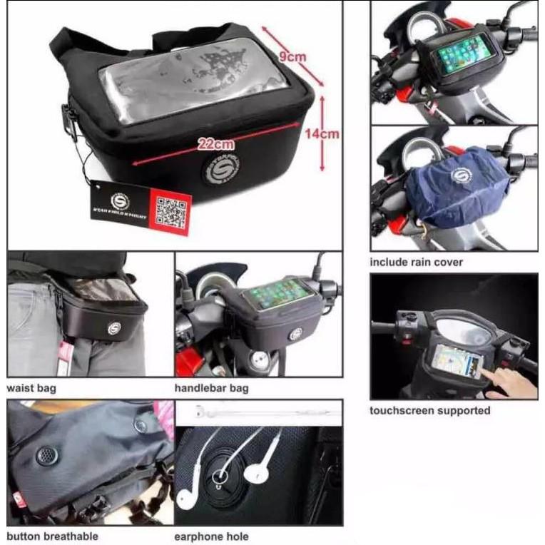 Motorcycle Handlebar Bag Gps Pouchbag