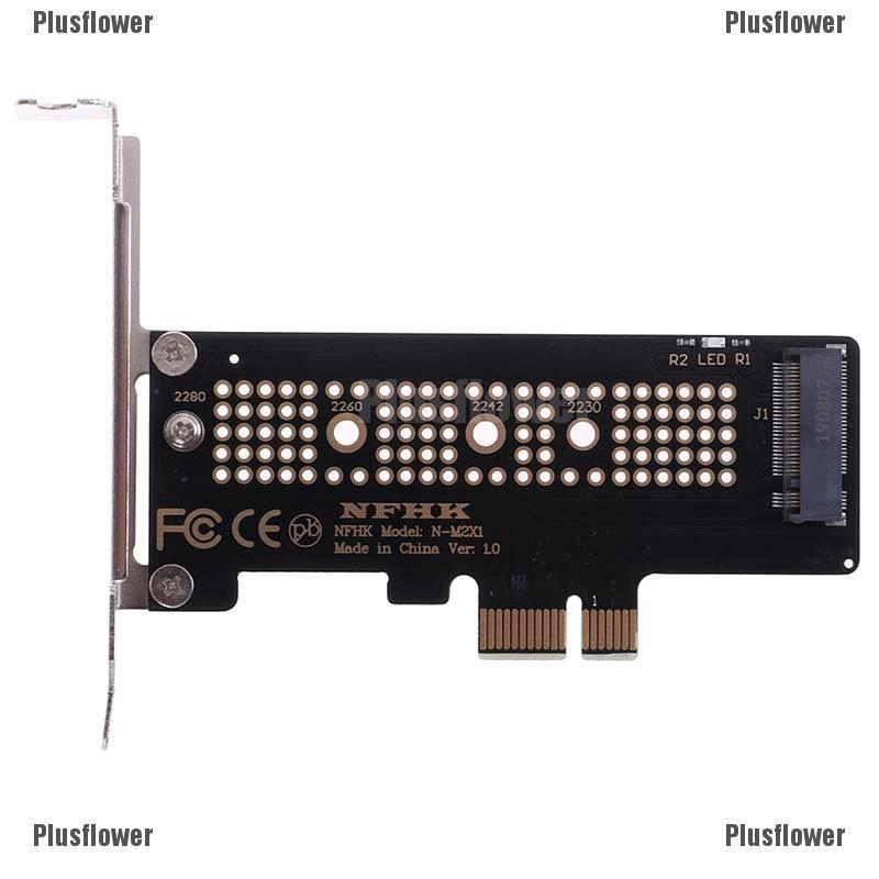 ✲CRD✲NVMe PCIe M 2 NGFF SSD to PCIe x1 adapter card PCIe x1 to M 2 card  with bracket