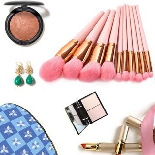 10 Pcs Luxury Makeup Brushes For Blush Powder Eyeshadow Concealer Makeup