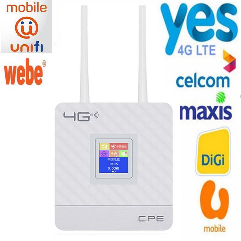 4G LTE CPE Wifi Router Broadband Unlock 4G 3G Mobile Hotspot WAN/LAN Port