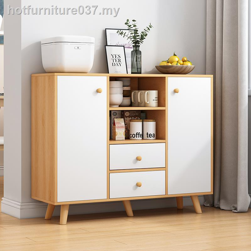 Modern Minimalist Side Cabinet Rack Multi Functional Locker With Door Nordic Small Family Kitchen Cupboard Tea Shopee Malaysia