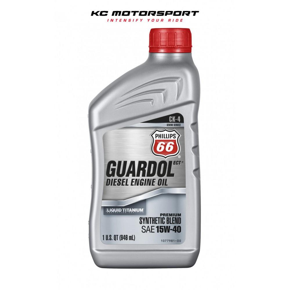 PHILLIPS 66 Guardol ECT 15w40 Diesel Semi Synthetic Engine Oil (946ml /  1quart)