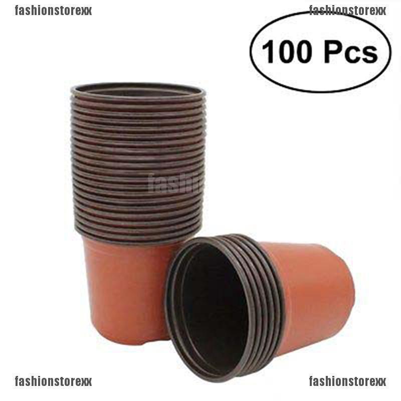"Square 2/"" NEW plastic pot greenhouse nursery  seedling seed starter 160 pots"