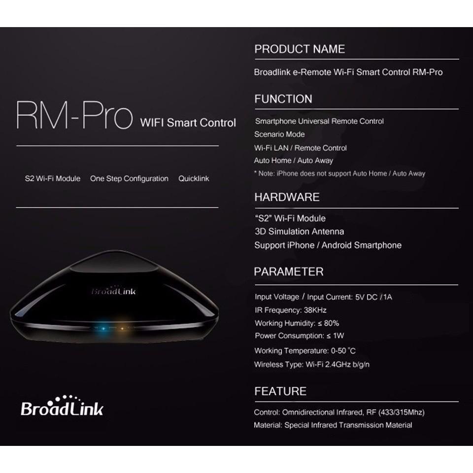 WIFI+IR+RF Smart Home Intelligent Controller For Broadlink RM PRO+ KNTR