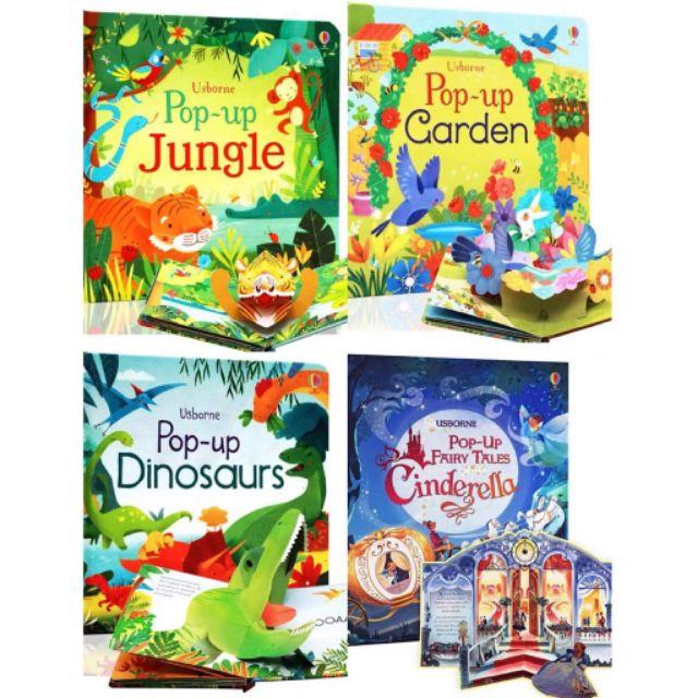 NEW Ready Stock  Usborne pop-up dinosaur and pop-up garden, jungle,  Cinderella
